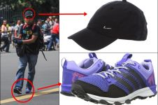 Pelaku teror ini juga nggak kalah branded, topi Nike & sepatu Adidas!