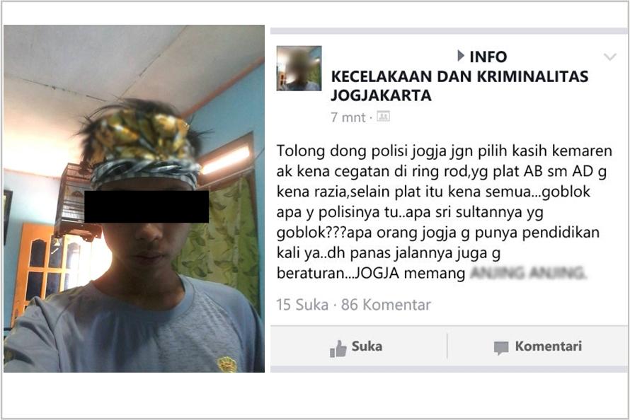 Tak terima ditilang, remaja ini marah sebut polisi & warga Jogja bodoh