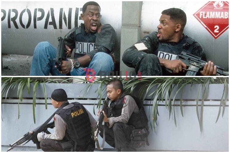 7 Aksi polisi Indonesia sergap teroris mirip aksi di film Bad Boys