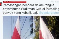 Dilapori bendera terbalik, Ganjar Pranowo suruh netizen membaliknya