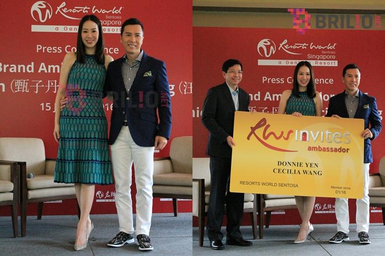 Donnie Yen & Cecilia Wang jadi brand ambassador Resort World Sentosa