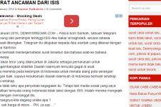 Inikah surat balasan ancaman ISIS untuk Indonesia?