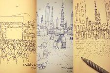 Ini 7 sketsa ala Ridwan Kamil ketika umroh, super kreatif Kang!