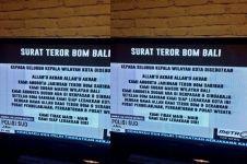 Bali dapat ancaman bom bunuh diri, dari jaringan teroris bom Sarinah?