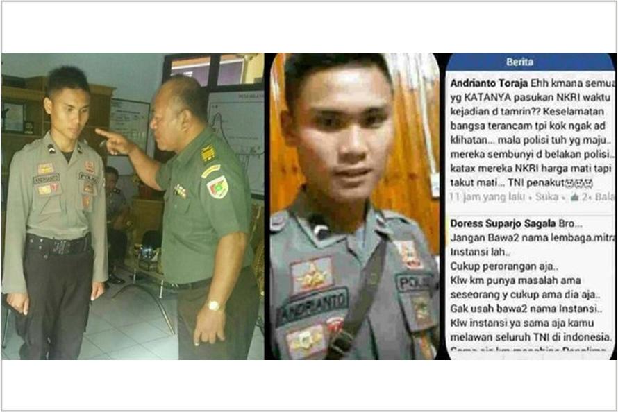 Akibat hina TNI di media sosial, Bripda Andrianto kini ditahan