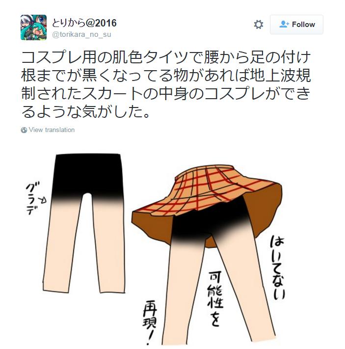 Ini konsep baru rok pendek cosplayer, kameko tak bisa lagi 'nakal'
