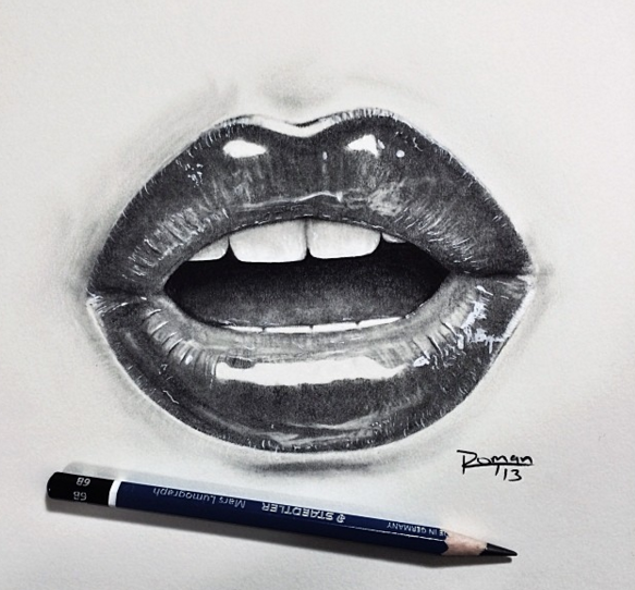 17 Gambar Bibir Ini Cuma Dilukis Pakai Pensil Tapi Bisa Ada Efek