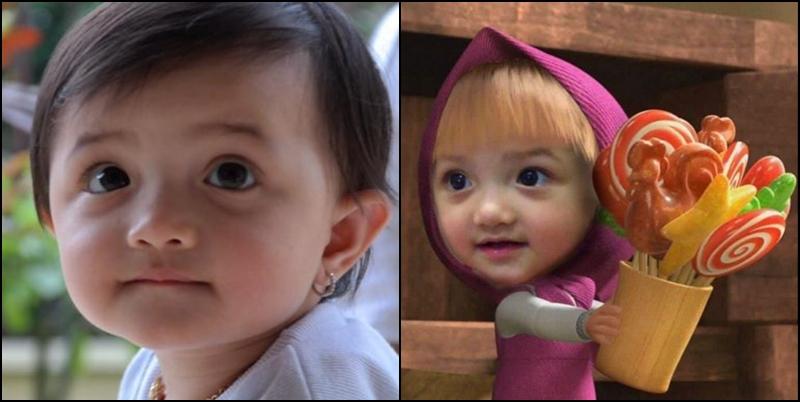 Gara-gara diedit mirip Masha and the Bear, Baby Arsy banjir pujian