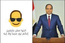 Beginilah jadinya kalau muka Presiden Mesir dijadikan emoji, ups!