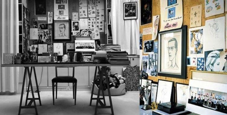 Yuk intip ruang kerja John Lennon, Yves S Laurent dan orang top lain