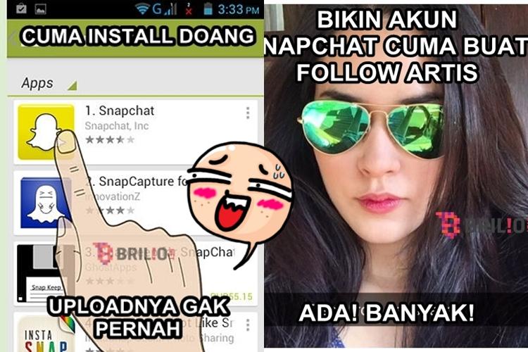 9 Meme bikin geregetan yang cuma bisa dipahami pengguna Snapchat