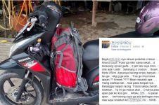 Pemotor bawa tas ditilang polisi di Cirebon bantah telah minta maaf
