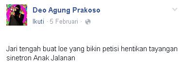 Tolak petisi hentikan sinetron Anak Jalanan, pria ini dihujat netizen