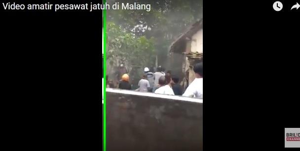 Video amatir pesawat jatuh di Malang