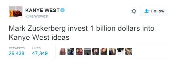 Benarkah Mark Zuckerberg investasi Rp 13 triliun demi ide Kanye West?
