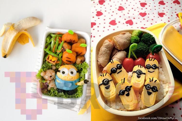 10 Bekal makan siang Minions ini bikin nggak tega buat makannya, duh!
