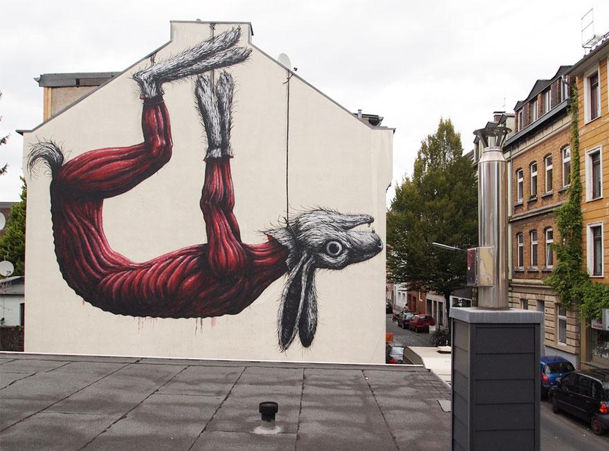 15 Street art keren ini sindir manusia yang merusak lingkungan, top!