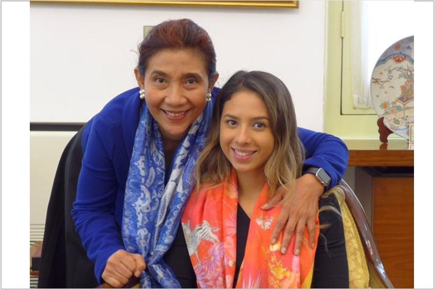 Nadine Kaiser putri Menteri Susi kini makin jelita & memesona, uhuk!