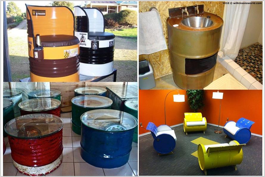 Jangan sia-siakan drum bekas, bisa jadi perabot rumah yang cantik
