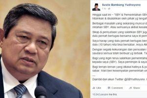 'Curhat' SBY di media sosial singgung pemerintahan saat ini, kenapa?