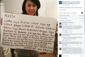 39 Tahun diadopsi ke Belanda, wanita ayu ini cari ibunya di Indonesia