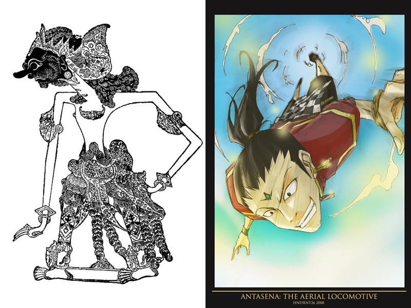 14 Transformasi Tokoh Wayang Setelah Disulap Dalam Wajah Anime