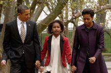 20 Foto transformasi Sasha Obama, anak Barack Obama, seperti apa kini?