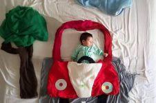 13 Bayi imut ini lelap di kasurnya, bikin ingin lekas punya momongan!