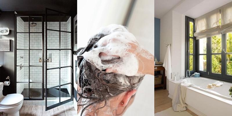 19 Desain kamar mandi untuk rumah sempit, jadi bisa keramas manja deh!