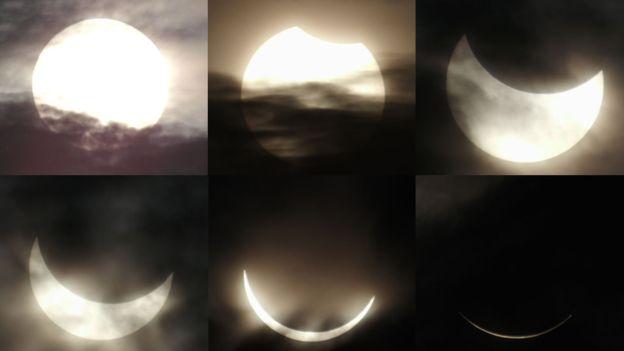 Foto-foto menakjubkannya fenonema gerhana matahari total