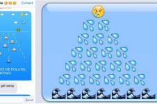 Kreatif banget nih! Emoji dirangkai jadi cerita menarik saat chatting