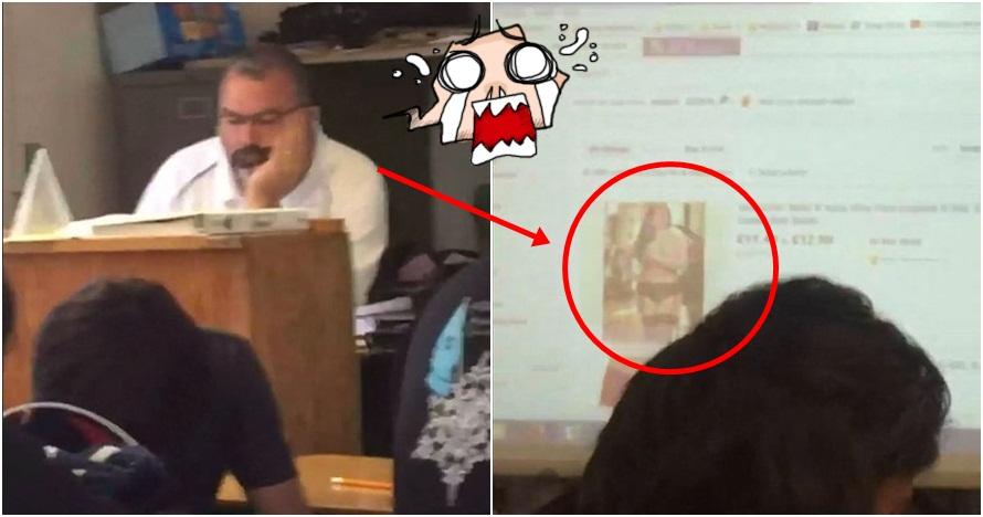 Lupa matikan proyektor, guru ini kepergok cari lingerie di olshop!