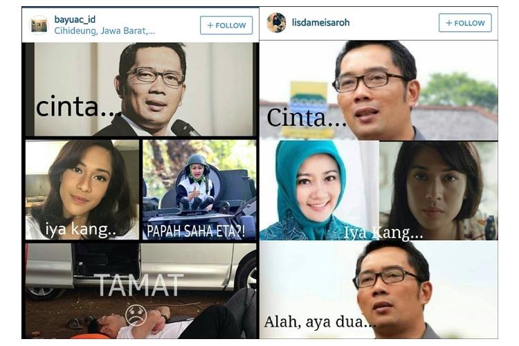 Meme Ridwan Kamil & Cinta AADC 2 yang dijamin bikin klenger ketawa