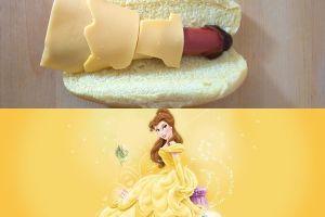 Princess Disney saat disulap jadi hot dog, lucu bikin sayang dimakan