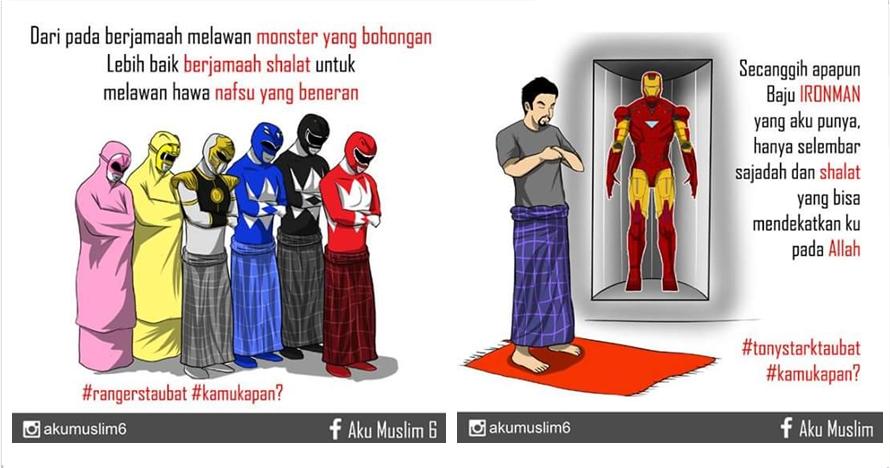 9 Ilustrasi superhero saleh ini sindir kamu yang malas ibadah, duh!