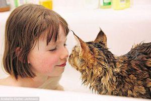 Kisah haru gadis kecil penderita autis ini belajar bicara dari kucing