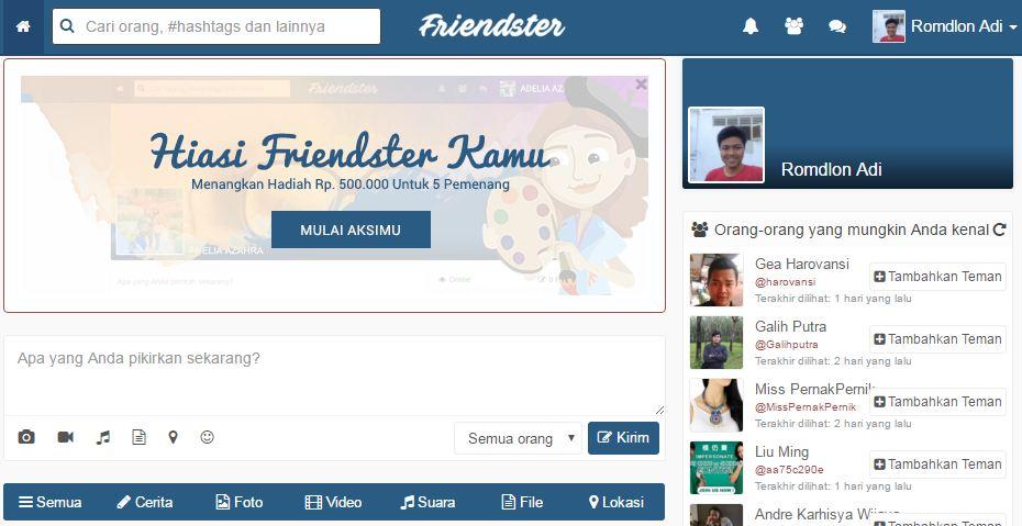 Media sosial Friendster bangkit lagi?