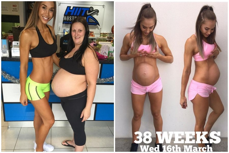 Wow, perut wanita atletis saat hamil ini pasti bikin kamu melongo!