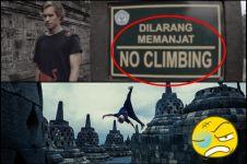 Atlet parkour asing jumpalitan di Candi Borobudur bikin marah netizen
