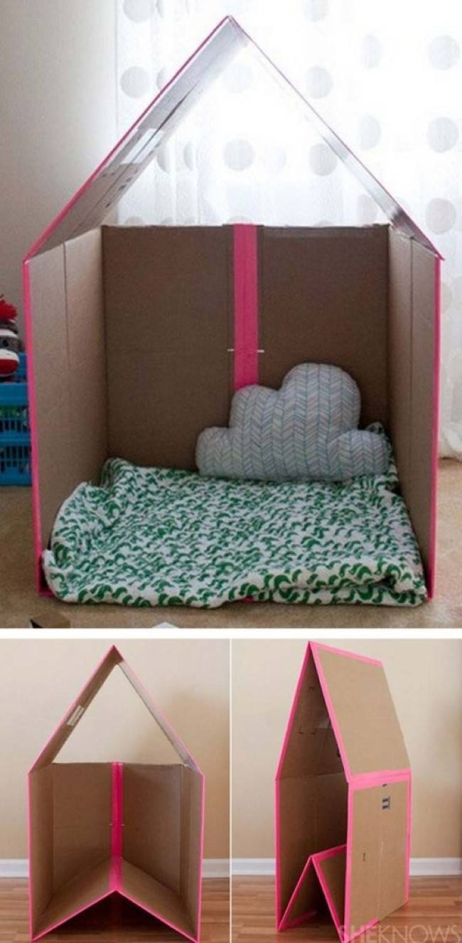 24 20 Cara memanfaatkan kardus bekas untuk mainan anak, murah dan un