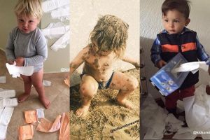 16 Foto aksi bocah yang kadang bikin papa mamanya sebel setengah mati