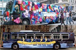 15 Iklan keren di bus ini kreatif banget, jangan melongo lihatnya!