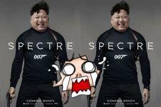Foto aksi politikus dunia saat berkostum layaknya James Bond
