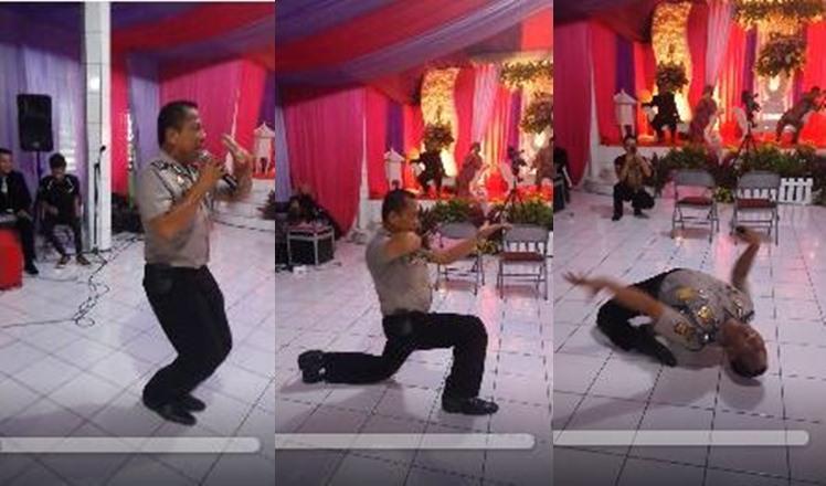 Polisi nyanyi lagu dangdut ini punya goyangan maut, bikin melongo!