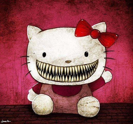 22 Ilustrasi horor tokoh populer di film animasi, bikin merinding ya!
