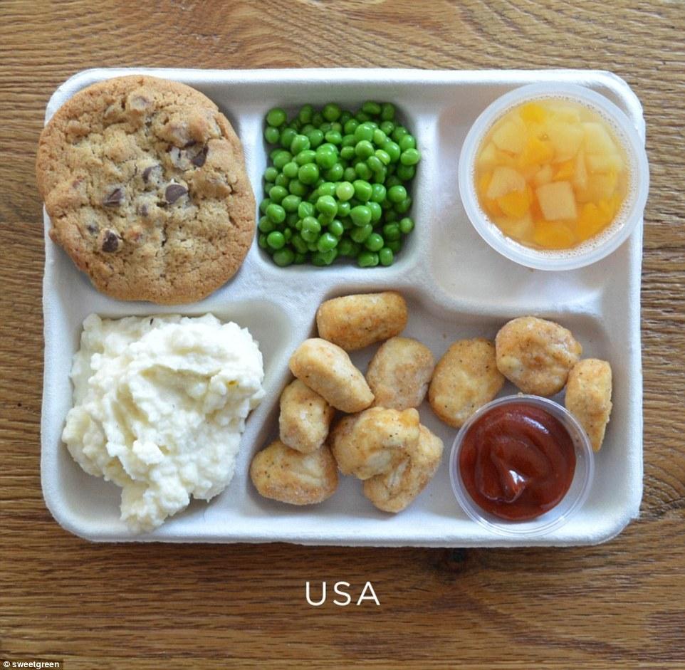 menu makan siang sekolah  Daily Mail