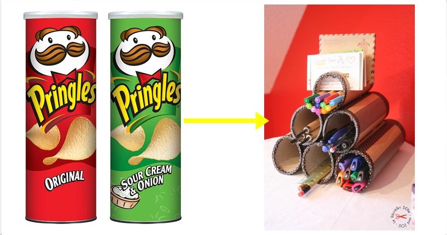 15 Cara mudah daur ulang wadah Pringles bekas, sim sala bim!