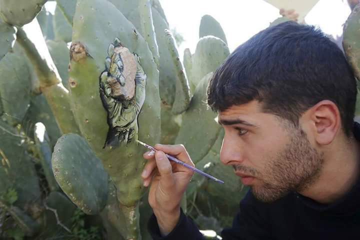 Penuh haru, Seniman ini ungkap keadaan rakyat Palestina lewat kaktus