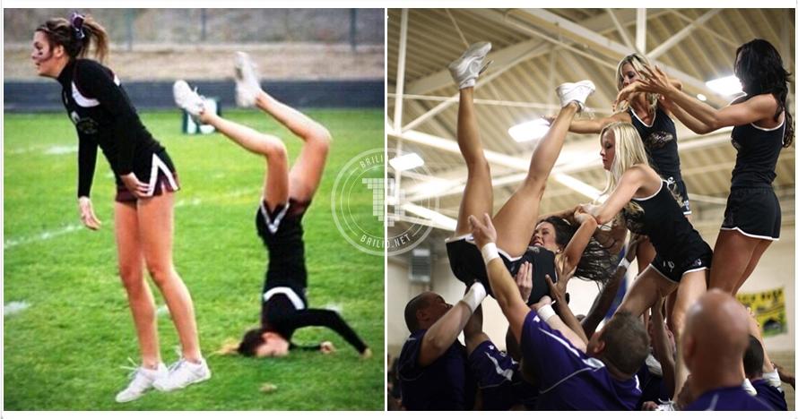 16 Momen konyol para cheerleader, ternyata bisa absurd juga mereka