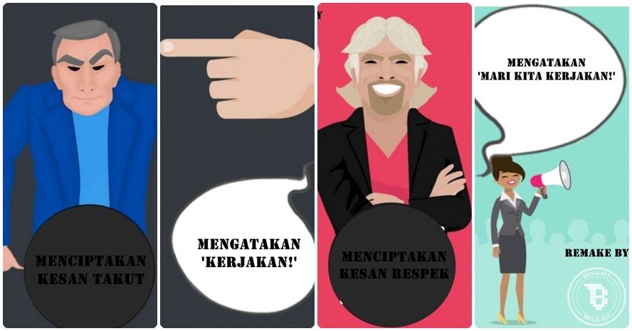 10 Ilustrasi gambarkan perbedaan bos dengan pemimpin, kamu wajib tahu!